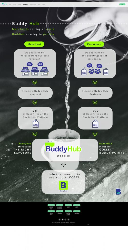 Buddy Up Website | Buddy Hub Page | InnoLab Global Portfolio